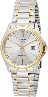 Casio Men's Classic Silver Analog Dial Two Tone Stainless Steel B and Watch [MTP-1183G-7A]