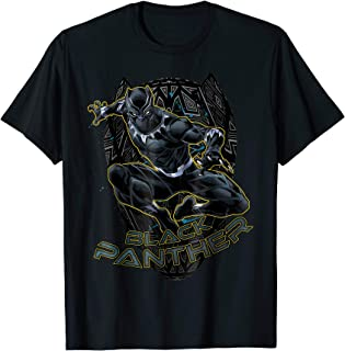 Marvel Black Panther Gold Trimmed Pounce Graphic T-Shirt