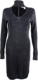 Michael Michael Kors Womens Choker Long Sleeve Sweaterdress