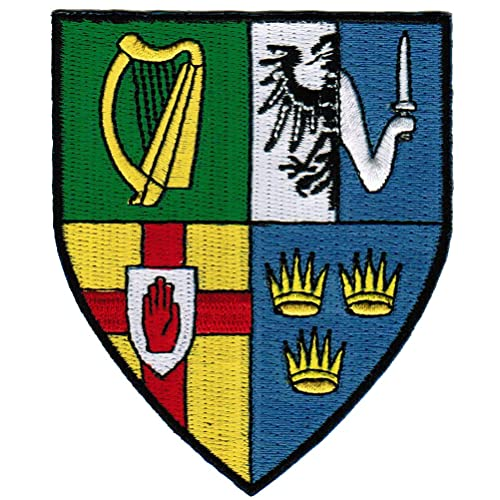 ERIN GO BRAGH IRISH FLAG IRON-ON PATCH CREST BADGE 1.5 X 2.5 IN.