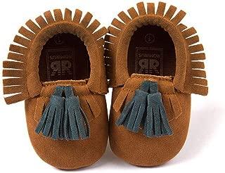 Kinggolder Tassel Soft Shoes Newborn Baby Girls Baby First Walkers Red Black Infant Toddler Shoes Floor Shoes