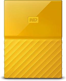 WD HDD ポータブル ハードディスク 4TB USB3.0 イエロー 暗号化 パスワード保護 3年保証 My Passport WDBYFT0040BYL-WESN