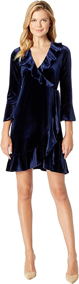 Eternal Glow Stretch Velvet Bibiana Dress