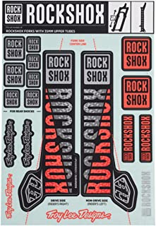 RockShox Decal Kit 35mm Troy Lee Designs Silver/Orange
