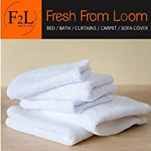 Fresh From Loom Cotton Face Towel (White) - Set of 6