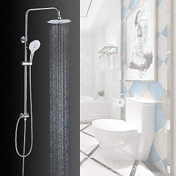 Solepearl Juego de alcachofa de ducha para grifo de baño, acabado ...