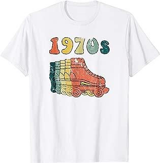 70s Roller Skates Derby Disco Retro Vintage T- Shirt