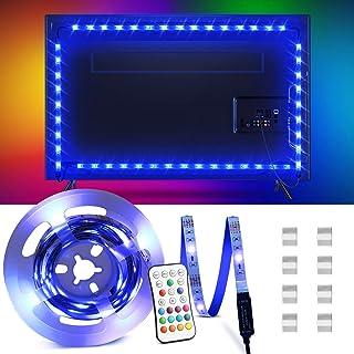 Tira LED 2.2M, OMERIL Tiras LED TV USB Impermeable con Control Remoto, Tira Luz LED RGB con 16 Colores y 4 Modos, Retroilu...