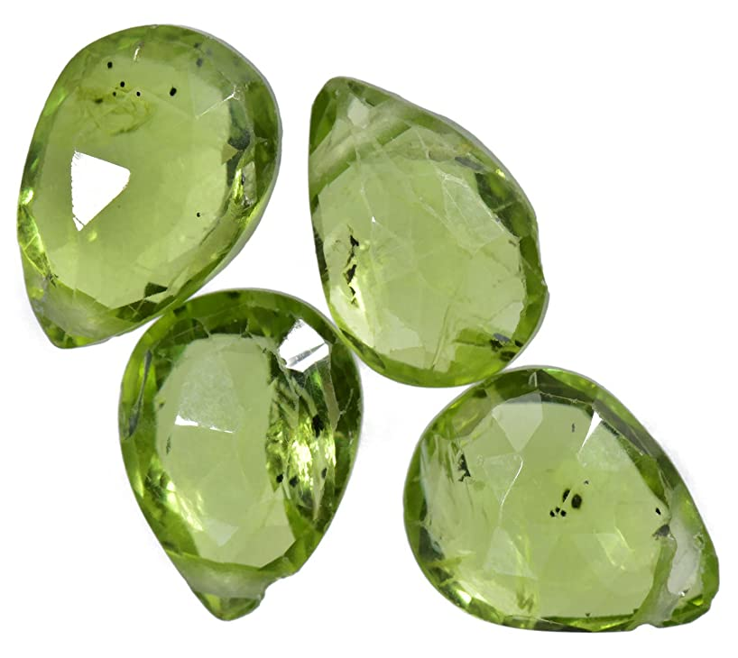 Peridot Briolettes Large Genuine Gemstone Facet Beads 9mm (4)