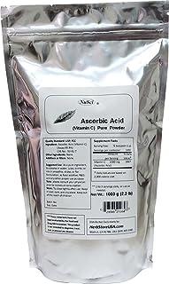 NuSci 100% Pure Vitamin C Ascorbic Acid (VC)Powder USP & FCC Quality (1000 Grams (2.2 lb)) GMO Free Non-Irradiated