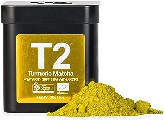 T2 Tea Organic Turmeric Green Tea Matcha Powder in a Tin, 30 g