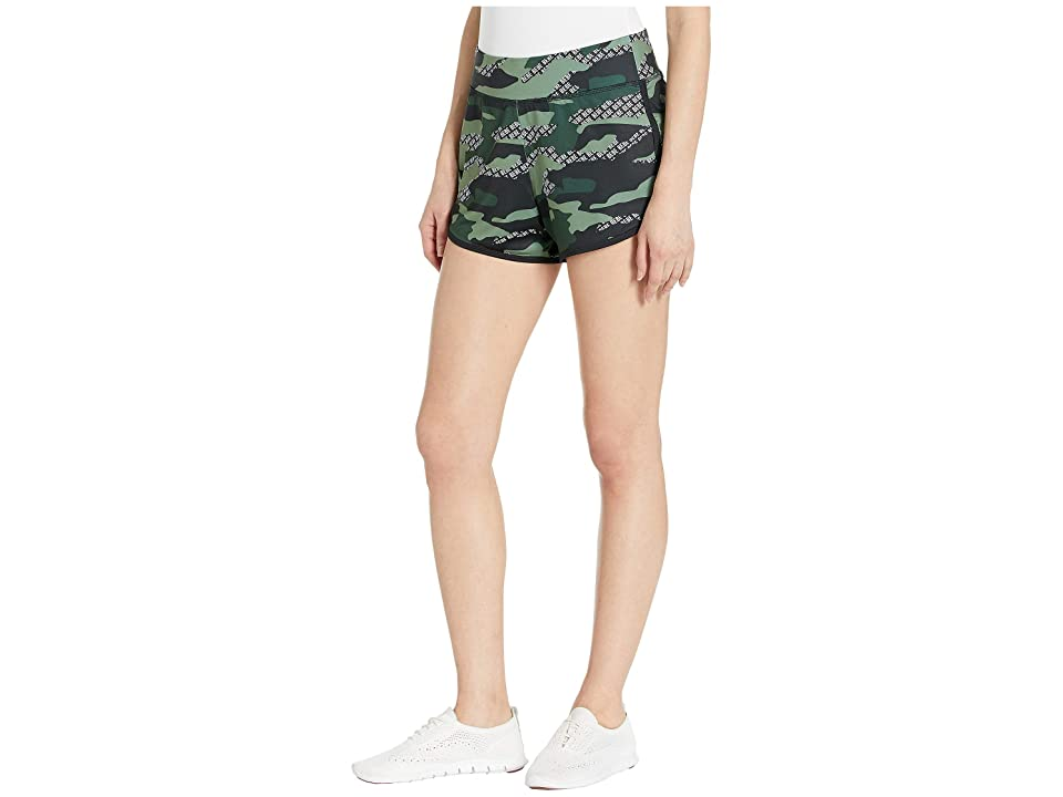 Bebe Sport Camo Printed Shorts (Bebe Logo Camo/Green Grove) Women's Clothing