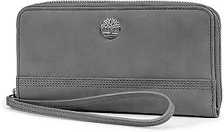 Timberland Womens Leather RFID Zip Around Wallet Clutch with بند مچ بند