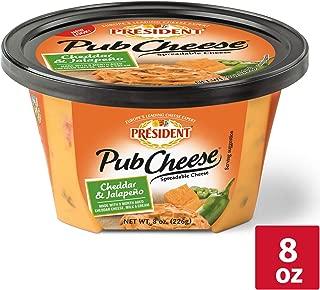 President Cheddar Jalapeno Pub Cheese, 8 oz