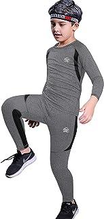 MeetHoo Conjunto Ropa Interior Termica para Niños Camisetas Termicas Deportivas Manga Larga Decathlon Pantalon Termico Fut...