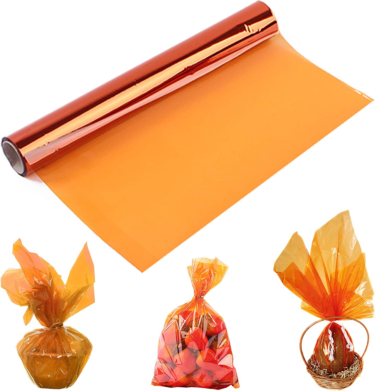 Orange Cheap bargain Cellophane Wrap Wrapp Translucent Roll Luxury goods