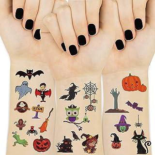 UniBetter Halloween tillfällig tatuering för barn 15 ark barn tatueringar