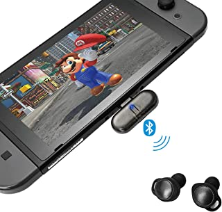 Bluetooth Adapter for Nintendo Switch, GuliKit Route+ Wireless Bluetooth Audio USB Type C Transmitter/Receiver, Driver-Free Plug-n-Play Compatible With Bluetooth Headset Speaker PC