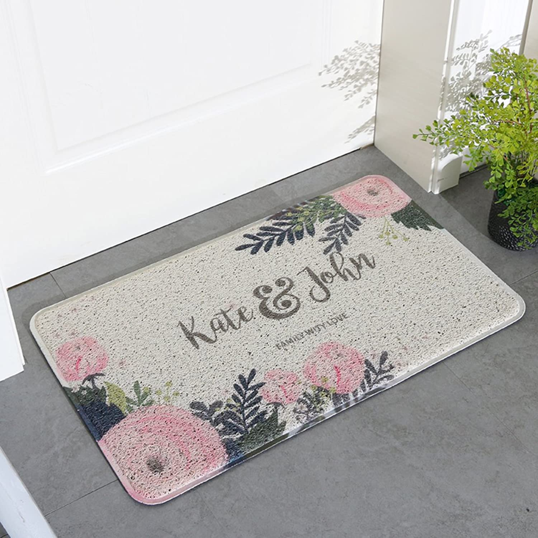 PVC Non-Slip Mat, Durable Wear-Resistant Doormats, Cozy Easy Care, Bathroom Kitchen Balcony Corridor-B 60x90cm(24x35inch)