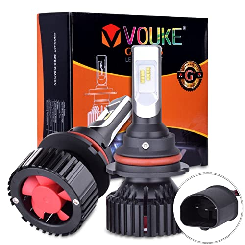 Vouke G+ 9007 HB5 High Low Beam Dual Beam headlamp 8000 Lumens with Extremely Bright Phi