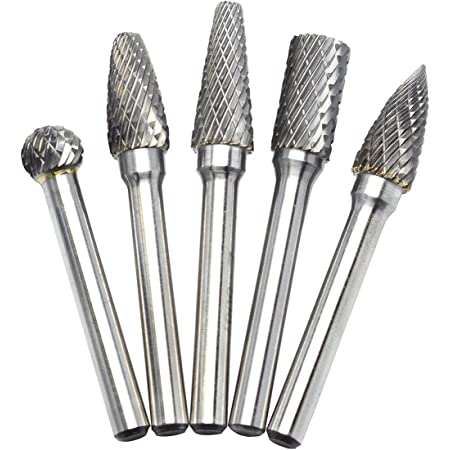 10pcs 6mm Tungsten Head Carbide Burrs Rotary Drill Die Grinder Carving Bits New