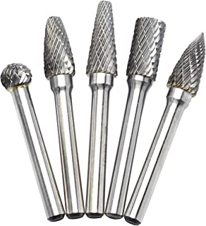 "5pcs SD-42 Spherical Ball Shape 1//8/"" Diameter Carbide Burr Double Cut TiN Coated"
