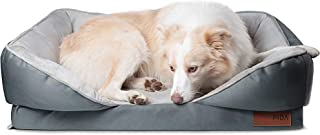 Fida Orthopedic Dog Bed with Memory Foam Base - Dog Lounge Sofa with Removable Washable Cover, Pets Couch Beds for Small D...