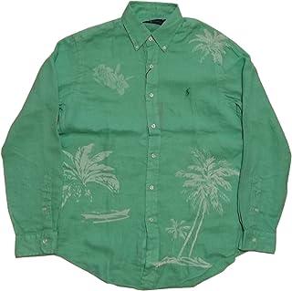 (ポロ ラルフローレン) 長袖 ボタンダウンシャツ リネン グリーン系 Polo Ralph Lauren 1119 [並行輸入品]