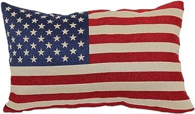 Brentwood Originals American Flag Toss Pillow