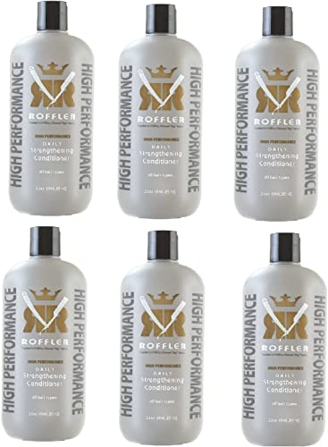 6 Pc Roffler High Performance Daily Strengthening Conditioner, 32 once (946.35ml)