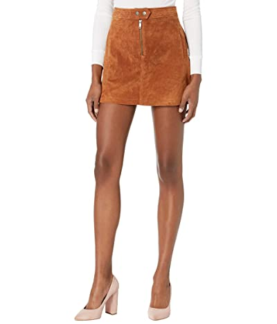 Blank NYC Real Suede Miniskirt with Zipper Front Detail (Sweater Weather) Women