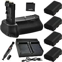 Battery Grip Bundle F/Canon EOS 6D: Includes BG-E13 Replacement Grip, 4-Pk LP-E6 / LP-E6N Long-Life Batteries, Dual Charger, UltraPro Accessory Bundle