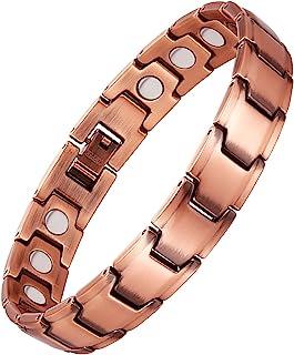 Feraco 99.99% Pure Copper Magnetic Bracelet for Men Women Arthritis Pain Relief with..