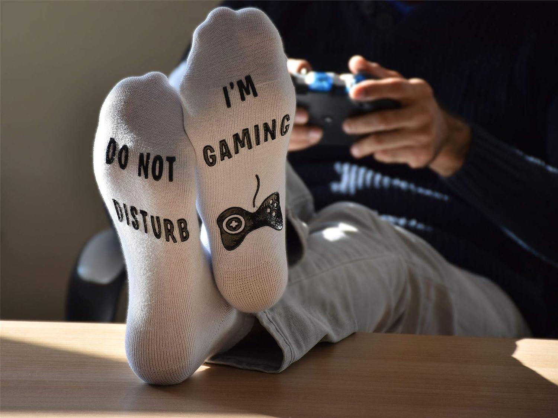 Im Gaming Vinsani/® Calzini divertenti alla caviglia con scritta Do Not Disturb