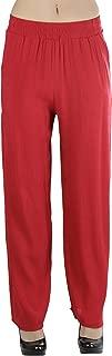 ToBeInStyle Women's Gauze Palazzo Crinkle Pants