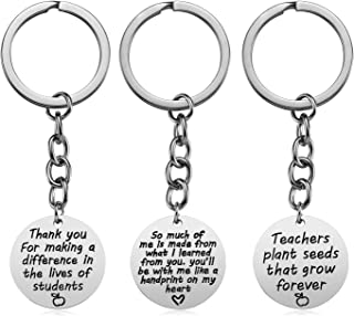 Teacher Appreciation Gifts for Women, 3PCS Heart Pendant keychain Jewelry Set, Thank You Gift Graduation Gift for Teachers