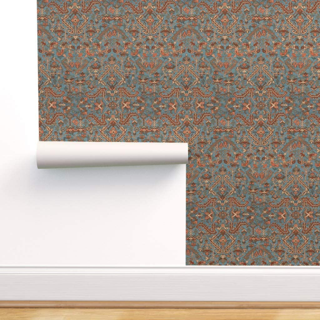 Spoonflower Peel and Stick Persian Removable Geometri Industry No. 1 Wallpaper Mail order