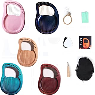 16-String Harp Beginner's Small Vertical Portable Mahogany Harp With Tuning Wrench And Carrying Bag Free Lettering Is Avai...
