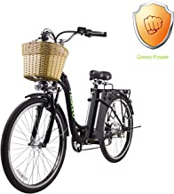 """NAKTO 26"""" City Electric Bicycle and Assisted Bicycle for Men with Removable 36V 10A Large Capacity Lithium Battery and Charger"""