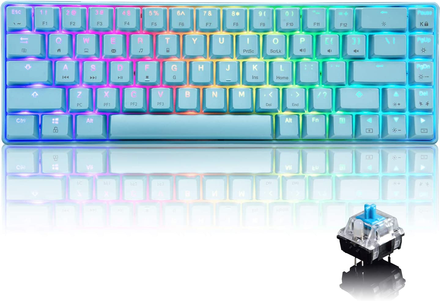 Large discharge sale Max 87% OFF Wired 60% Mechanical Gaming Keyboard Backlit RGB Chroma with Typ