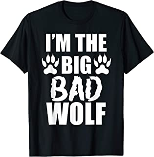 I'm The Big Bad Wolf Paw Prints Shirt Easy Halloween Costume