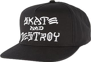 (スラッシャー)THRASHER(US企画)キャップ 帽子 スナップバック Skate And Destroy Snap-Back Hat Black(ブラック)