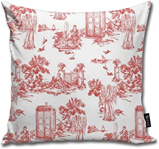 Robeot-Design Weeping Angels Toile De Jouy Quare Decorative Throw Pillow Case Cushion Cover 18inchs