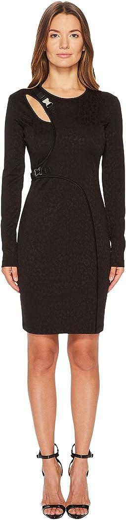 Versace Jeans - Cut Out Long Sleeve Dress