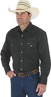 قميص العمل الغربي الرجالي من Wrangler بلمسة نهائية ثابتة
