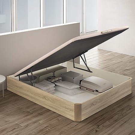 PIKOLIN, canapé abatible de almacenaje Color Natural 135x190, Servicio de Entrega Premium Incluido