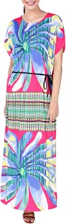 تونيك Miss Lavish London قفطان - فساتين بمقاس واحد للنساء تغطي الحواشي، فستان طويل، ملابس نوم - فستان كيمونو
