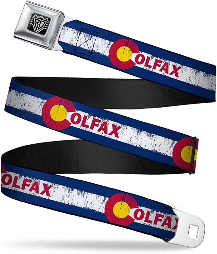 Buckle-Down Seatbelt Belt Dedication - COLFAX In a popularity Weathered 1.0 Colorado Flag