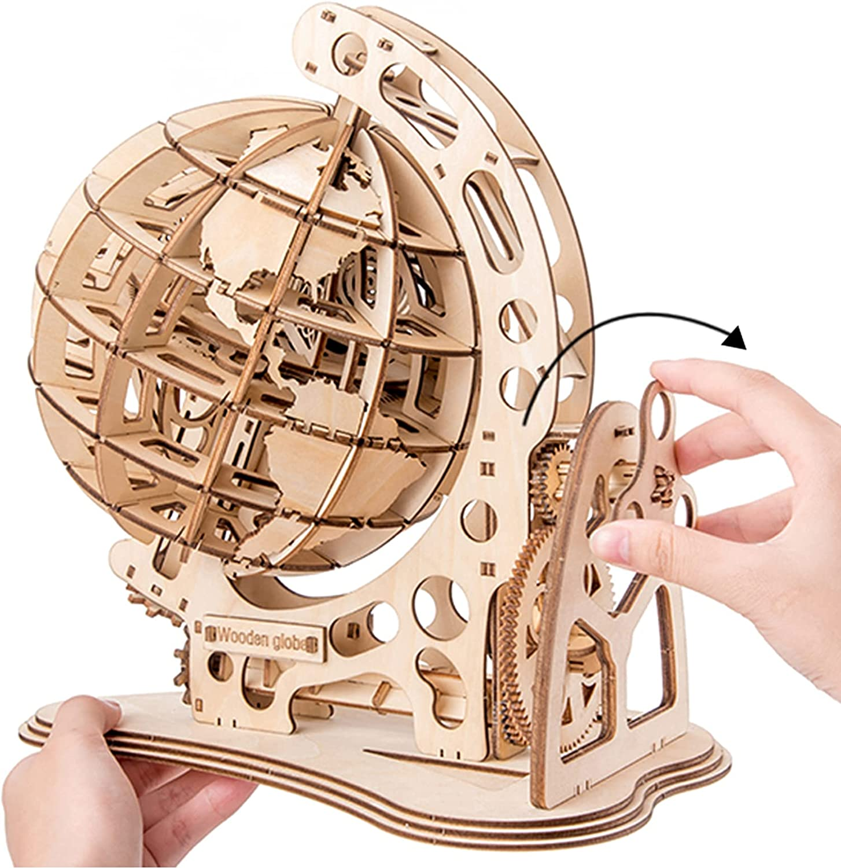 Aibesy 3D Wooden Puzzle Globe DIY Model Kit Self Asse trust Mechanical Max 68% OFF