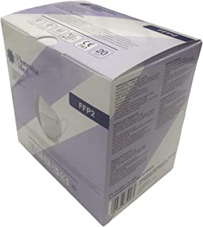 Mascherine FFP2 Certificate CE Categoria DPI: III, conformi EN 149:2001 + A1:2009. MADE IN ITALY Confezione da 20 pezzi.